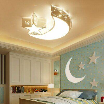 Modern Led Ceiling Moon Star Lights Lamp Child Kids Bedroom Lighting Decor
