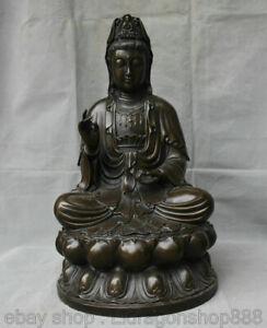 Statue-de-la-deesse-Lotus-de-Kwan-Yin-Guan-Yin-Boddhisattva-en-bronze-18-4-034