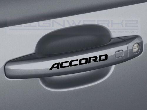 Honda Accord Door Handle Decal Sticker logo type r accord Turbo JDM Set of 4