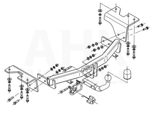 Für Toyota Verso 5-Tür ab 09 Anhängerkupplung starr+E-Satz 13p