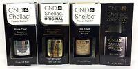 Cnd Gel Nail Polish .25oz Small Size - Pick Any Base/top Coat- Shellac