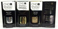 Cnd Gel Nail Polish .25oz Small Size - Pick Any Base/top Coat- Shellac