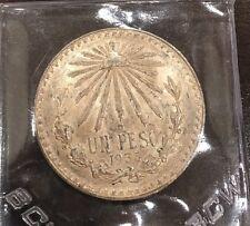 1933 Mexico Un Peso, .720 Silver.3856 ASW,Libertad on Edge, BU
