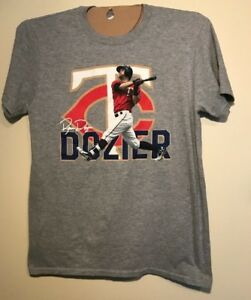 promo code 16443 2162d Details about Brian Dozier Minnesota Twins T-Shirt Graphic Tee Adult M Los  Angeles Dodgers