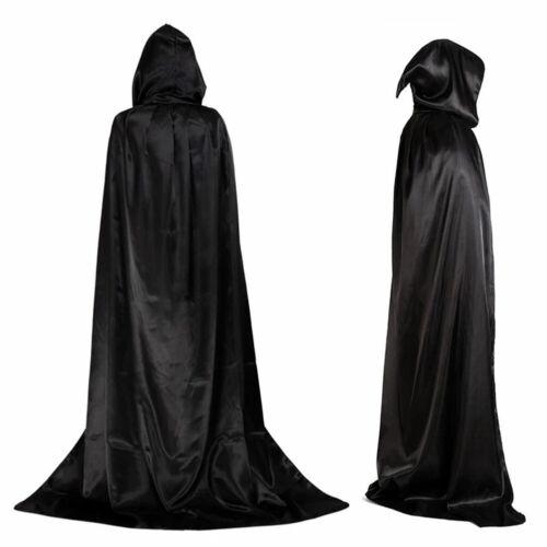 Halloween Hooded Cape Adult Kids Unisex Long Cloak Costume Dress Coats Gifts