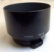 Nikon HS-8 Clip-on lens Hood 52mm rim for 105mm f2.8 micro Nikkor 135mm Nikkor