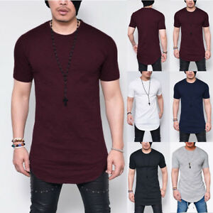 Men-039-s-Summer-Slim-Fit-O-Neck-Short-Sleeve-Muscle-Tee-T-shirt-Casual-Tops-Blouse