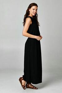 Woman-039-s-Maxi-Dress-Long-Loose-Fit-Casual-Solid-Small-Medium-Large-Free-Shipping