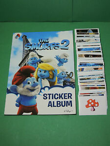Bien éDuqué Schtroumpf The Smurfs 2 Album D'image Vide + Full Set Complet Sticker Giromax Confortable Et Facile à Porter