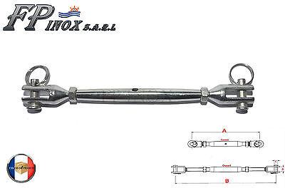 A4 Ridoir M10 Chape Terminaison Chape 195 mm inox 316