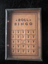 VTG GLASS METAL CARD ROLL BINGO DEXTERITY JIGGLE PALM BB PUZZLE GAME SUPERCLEAN