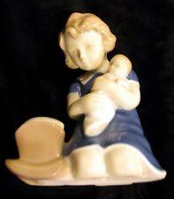SALE! CARL SCHNEIDERS ERBEN PORCELAIN FIGURINE GIRL W/BABY/ROCKER CIRCA 1952-67