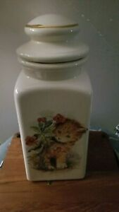 Vintage-Large-Ceramic-Cat-Cookie-Jar-Flour-Jar-Kitchen-Decor-Jar-13-in-Tall