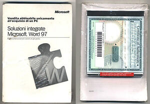 Amical Software Soluzioni Integrate Microsoft Word 97 Windows Office 95 98 Nuovo Pc