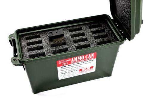 Precut Foam fits Plastic MTM 30cal 30 caliber Ammo Can holds 16-1911 .45 mags
