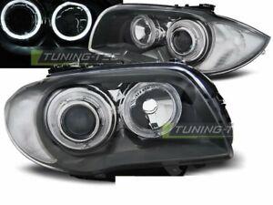 FARI-per-BMW-serie-1-E87-E81-04-11-Angel-Eyes-Grigio-UK-RHD-LHD-lpbmd-6-ED-X