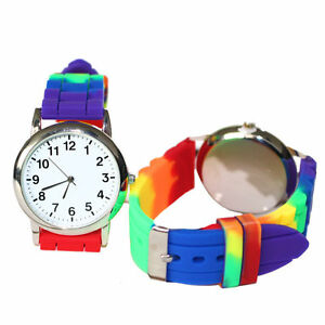 Gay-Pride-Rainbow-Silicone-Watch-New