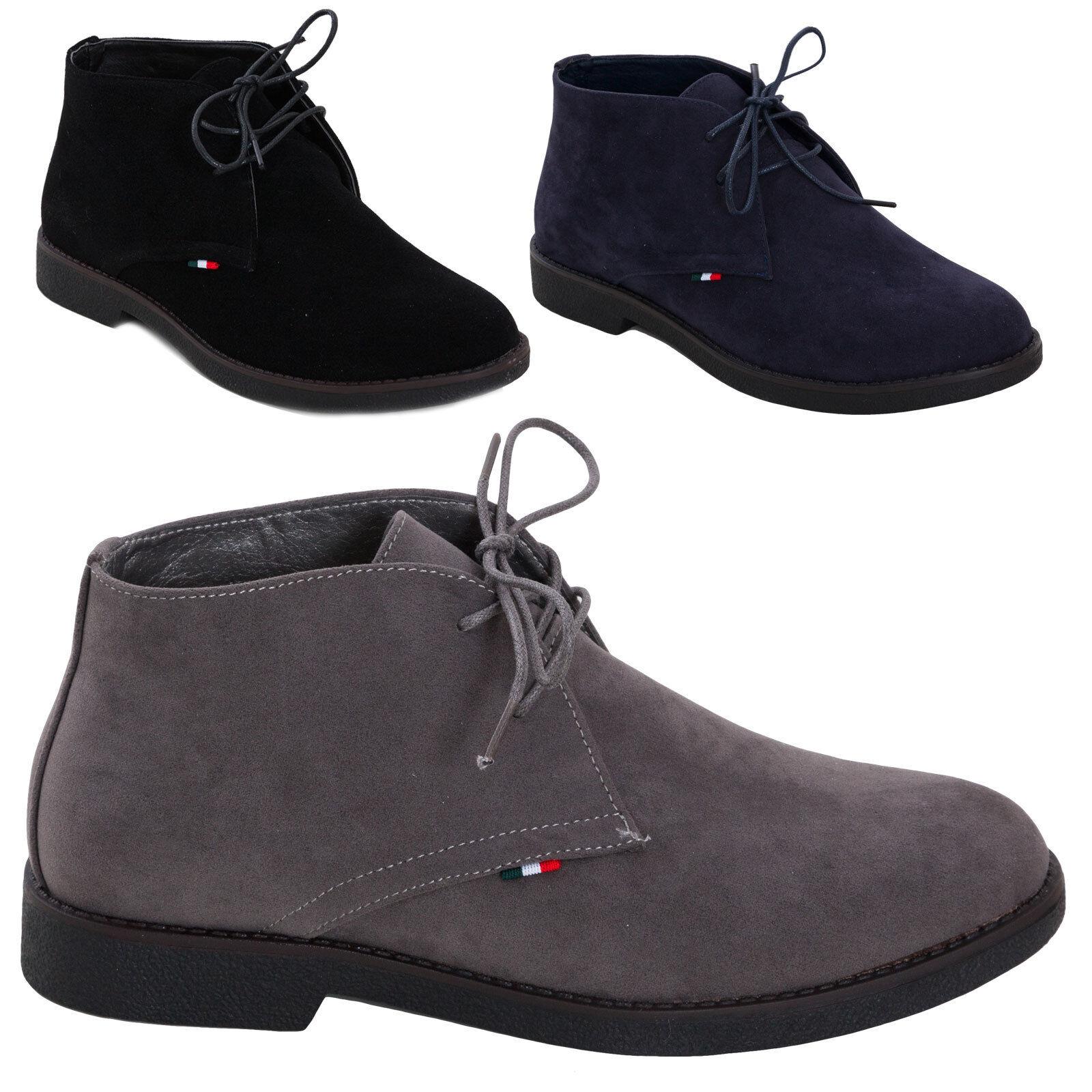 Men's shoes booties boots boots velour lace-up shoes suede elegant laces QP5883