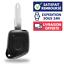 Coque-Telecommande-Plip-Auto-1-Bouton-Boitier-Cle-pour-PEUGEOT-106-206-306-406 miniature 1