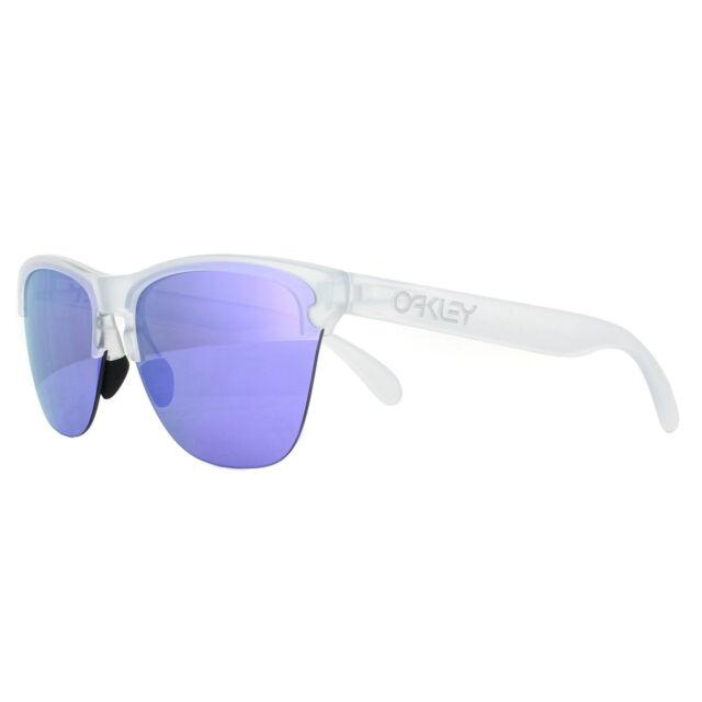 6bbb957b492 Oakley 9374 Frogskins Lite 03 Matte Clear Sunglasses Lenses Violet ...