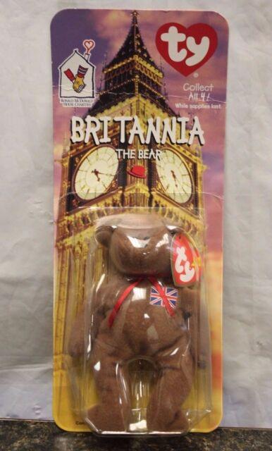 89472bd1c7f New TY BRITANNIA The BEAR TEENIE BEANIE BABIES 1997 Plush Collectible  Mcdonalds