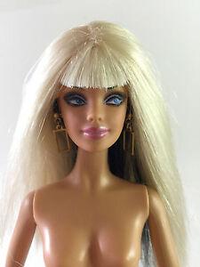 Bang Platinum Blond Mattel Black Barbie Model Top Doll Hair vm80nwON