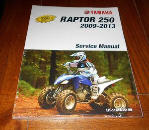 Yamaha raptor 250 oem repairservice manual book 2008 2013 ebay image is loading yamaha raptor 250 oem repair service manual book sciox Gallery