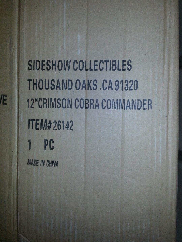 SIDESHOW SIDESHOW SIDESHOW SDCC G.I. JOE CRIMSON COBRA COMMANDER EXCLUSIVE NEW UNOPENED 1 6 SCALE 8c260b