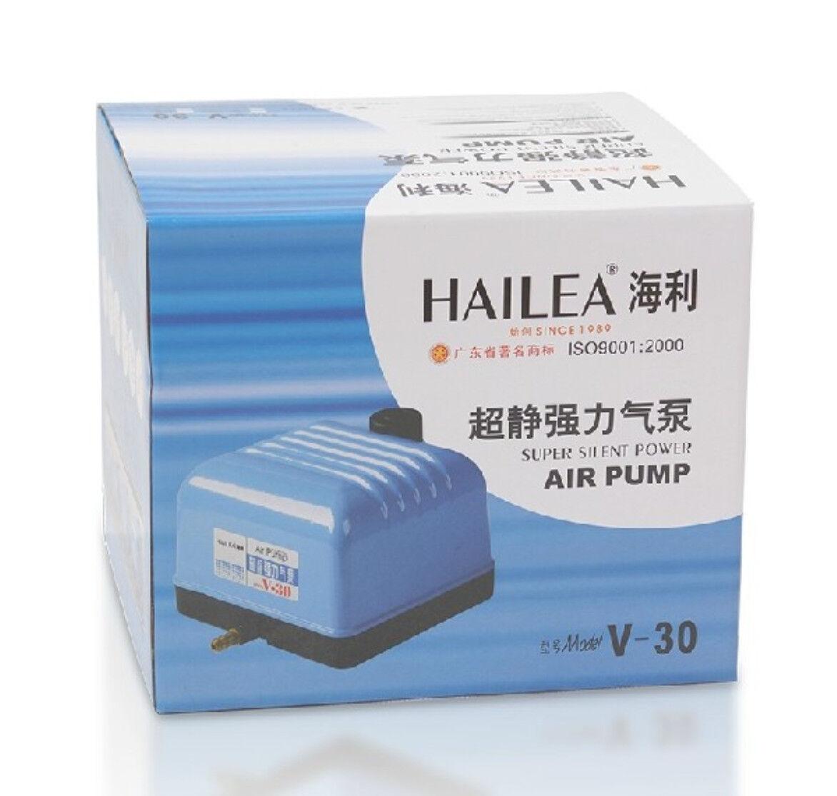 POMPA per aria, Hailea V-30 6 modi SILENT Pompe Acquario Idroponica stagno di Koi Fish
