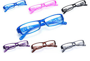 Slim-Reading-Glasses-form-0-0-to-4-00-Unisex-Trendy-Designer-Spring-Geek-Flowe