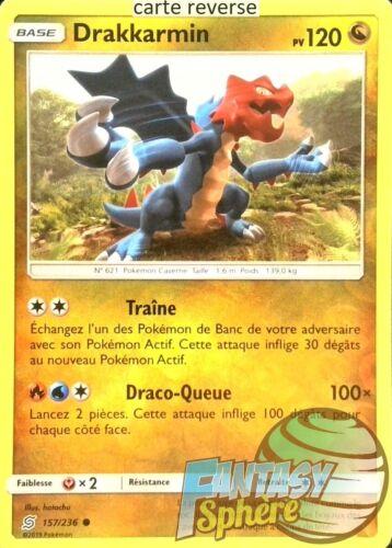 157//236/_R Drakkarmin VF Français Pokemon SL11 Reverse