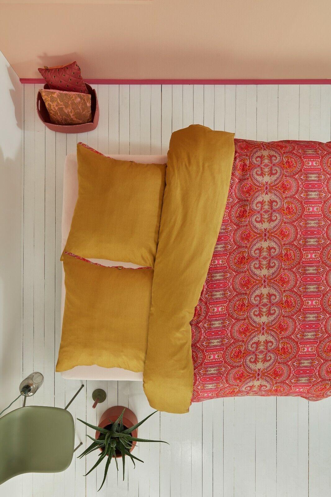 Oilily Mako Satin Bettwäsche Paisley Ovation Gold 135x200 oder 155x220 cm