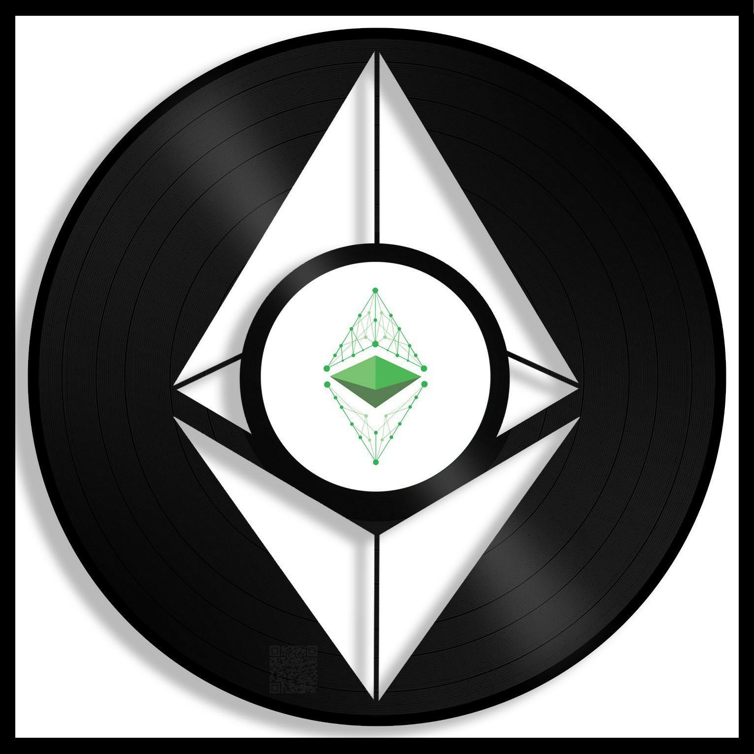 Ethereum Classic Coin Vinyl Wall Art Round Record Best Gift Bedroom Decor Framed