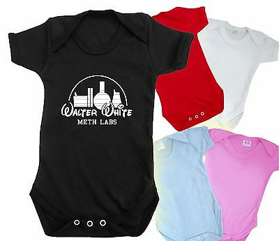 BREAKING BAD baby grow disney meth labs HEISENBERG WALTER WHITE shirt bodysuit