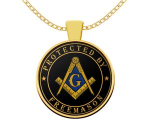 Masonic necklace protected by freemason freemasonry symbol gift image is loading masonic necklace protected by freemason freemasonry symbol gift aloadofball Gallery