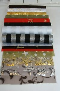 Tischläufer 5m verschieden Sorten Muster Farben Organza Polyester Weihnachten