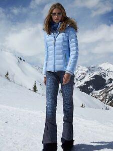 f6517548bad0 Bogner Malena Leo Insulated Ski Pants Women's Blue Denim Size 36 US ...