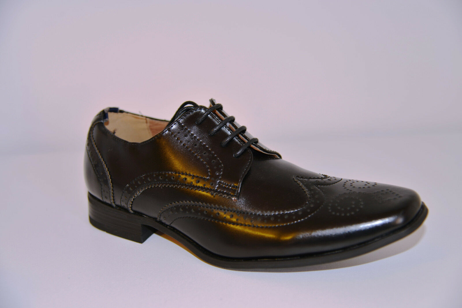 NUOVO Peter Werth PTK00406 CALATA Oxford Stile Mocassino in Pelle Nera   Eleganti