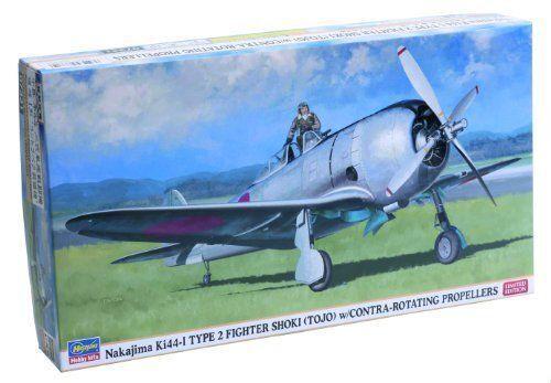 Hasegawa 1 48 Nakajima Ki44-i Type2 Shoki (Tojo) W Controrossoanti Elica Kit