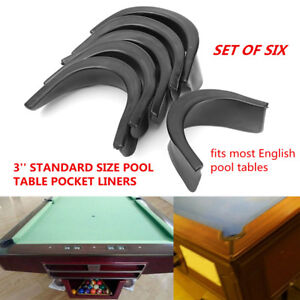 6Pcs-Set-Black-Pool-Table-Rubber-Valley-Pocket-Liners-Billiards-Replacement