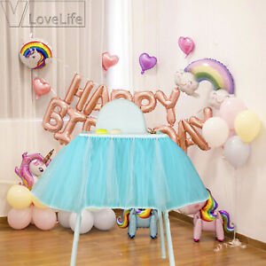 Miraculous Details About Boy Girl Tutu Tulle Skirt High Chair Cover Cloth Baby Shower Birthday Party Ocoug Best Dining Table And Chair Ideas Images Ocougorg