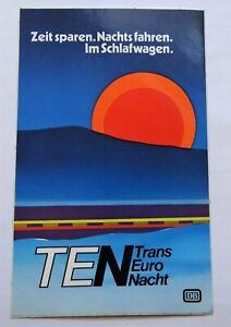 Promotional Stickers DB Trans Euro Night Sleeper Deutsche Bundesbahn Ten 80er