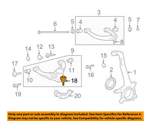 image is loading toyota-oem-front-suspension-lower-ball-joint-castle-