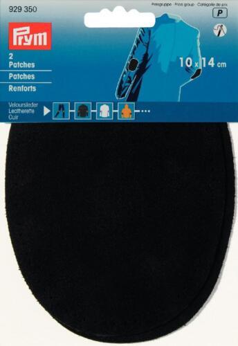 Prym Patches Veloursleder 10x14mm aufnähen schwarz 1 Paar 929350