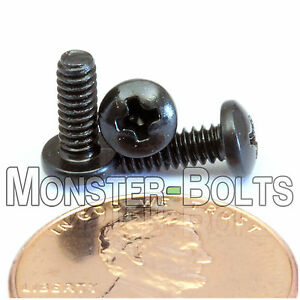 #4-40 - Phillips Pan Head Machine Screws - Steel w/ Black Oxide Coarse SAE Inch