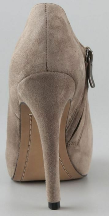 Sam eldelman Ria Masilla Gamuza Tacón Zapato Bota De Cremallera Tamaño, De Tamaño, Cremallera 9 M-precio minorista sugerido por el fabricante  140 db2474