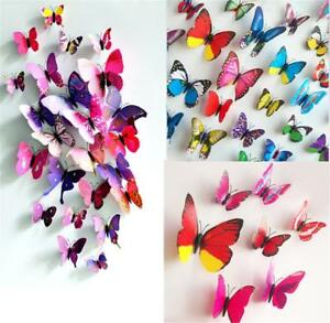 Image Is Loading 12x 3D Butterfly Wall Stickers Fridge Magnet DIY