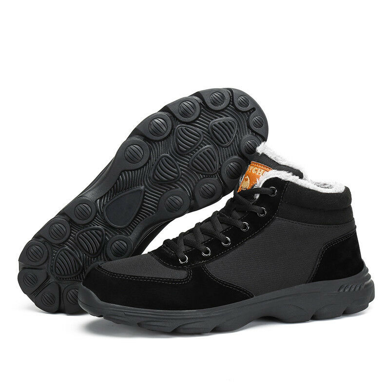 Fashion Men Women Warm shoes Snow Boots Fur Lined Lace Up Anti-skid Winter Gift