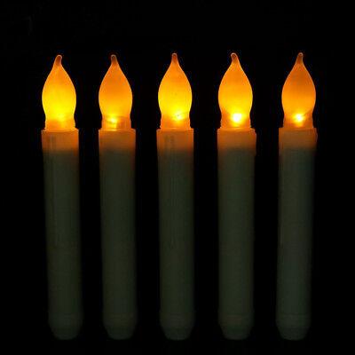 Long Flameless Candles Flickering LED Tea Light Candles Battery Powered Tealight