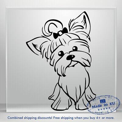 DecalDestination I Love My Yorkie Dog Decal White Choose Size